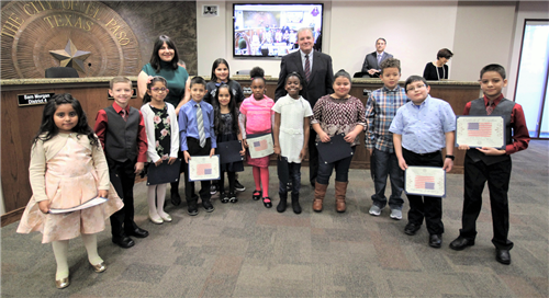 Travis Students at the City Council