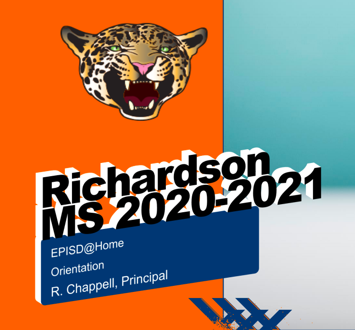 Richardson 2020-2021 @Home Orientation