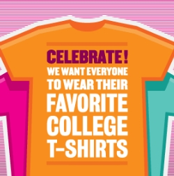 COLLEGE T-SHIRT/POLO DAY FOR STUDENTS