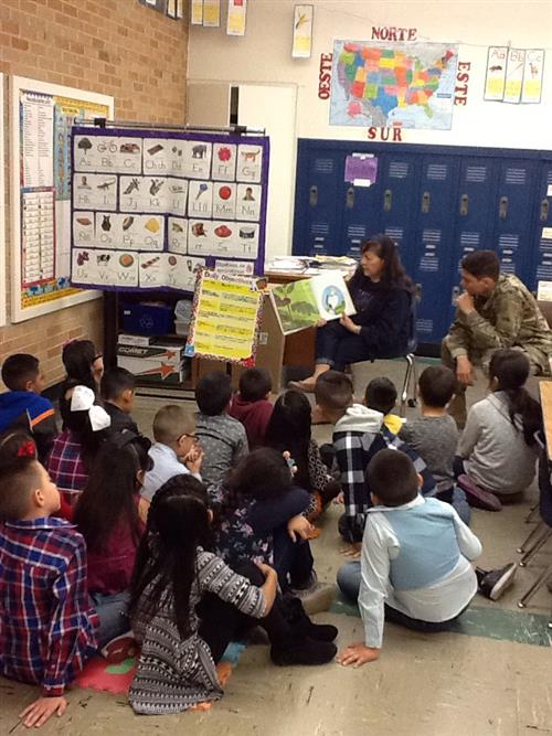 Foxes dropped everything to read on Nov.17 and our Heroes from1-77 AR Battalion were there to read