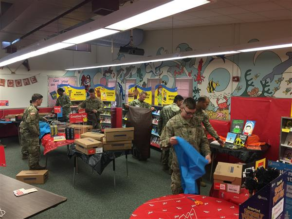 Thank you troops from the 1-77 AR Battalion for always helping at our school!