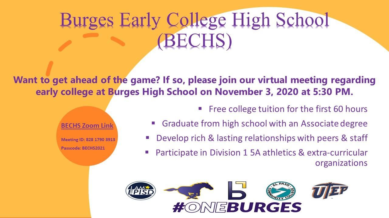 Burges Early College Program Night
