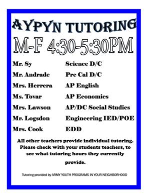 Tutoring List 2