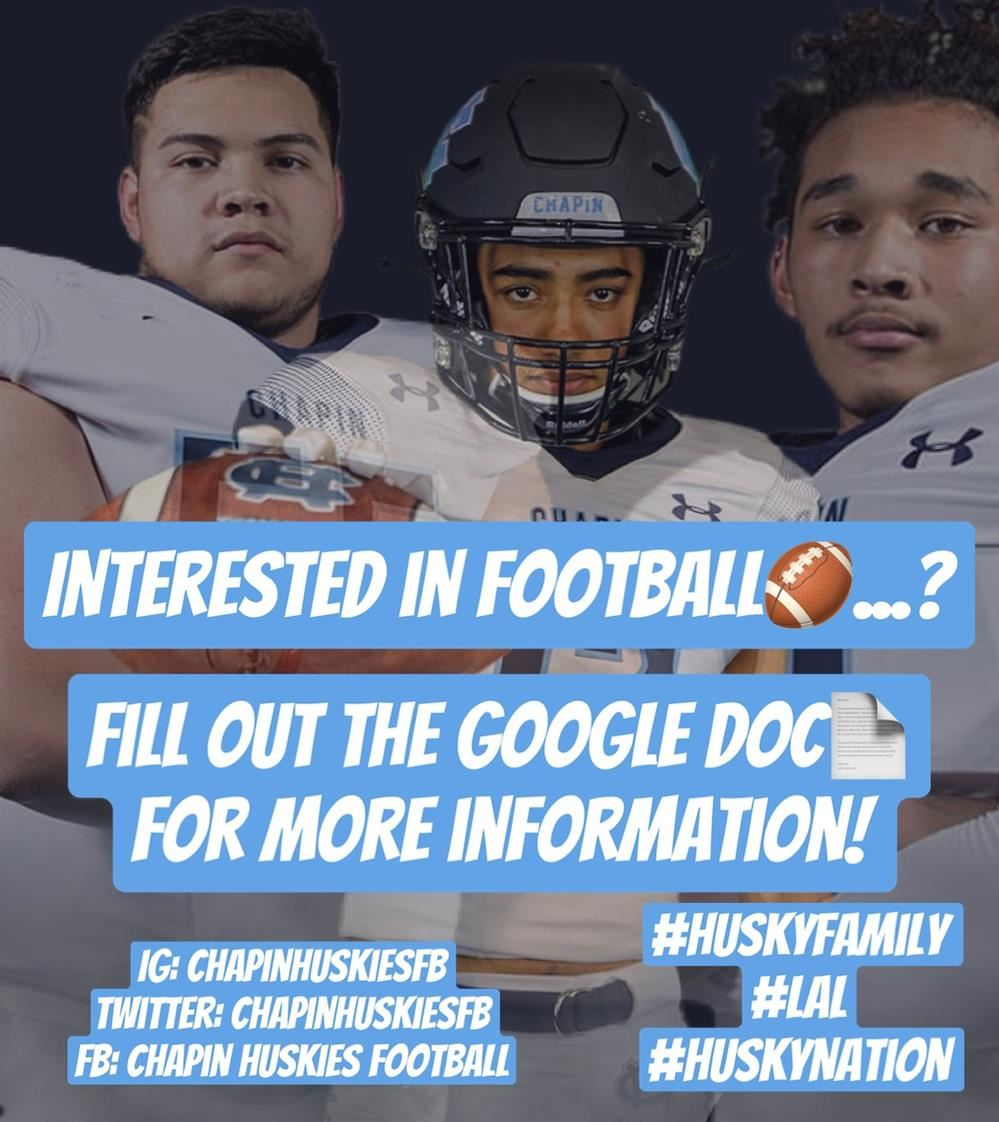 Interested in Spring 2021 Football?