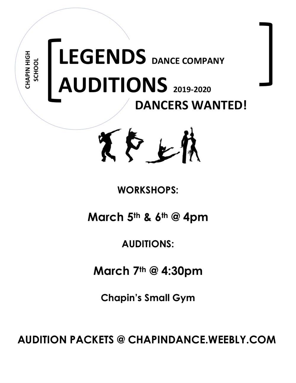 Legends Dance Auditions
