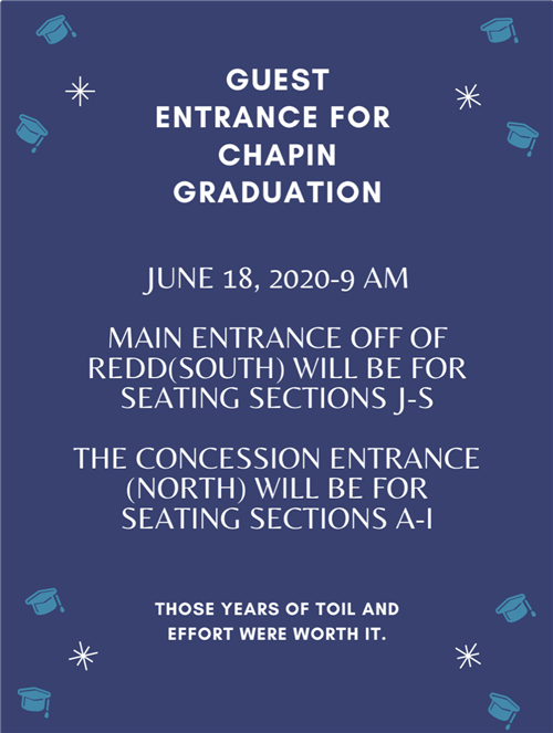 NEW, UPDATED GRADUATION SEATING INFORMATION