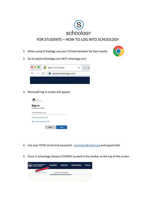 Schoology page 1