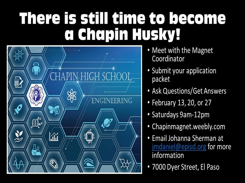 Chapin Magnet Applications Still Being Accepted