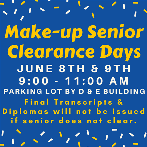 Make-up Senior Clearance