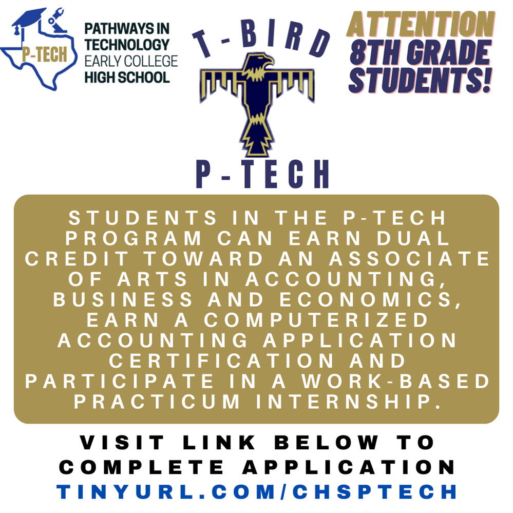 T-Bird P-Tech Application - 8th grade students only!