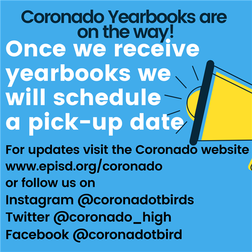 Coronado yearbooks are headed our way