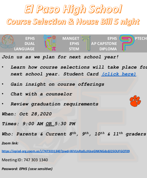 COURSE SELECTION AND HOUSE BILL 5 POWER-POINT PRESENTATION