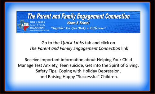 Parent and family engagement connection