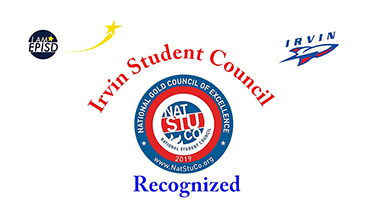 Irvin Student Council Receives Recognition