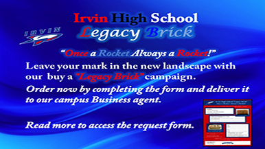 Irvin High School Legacy Brick Campaign