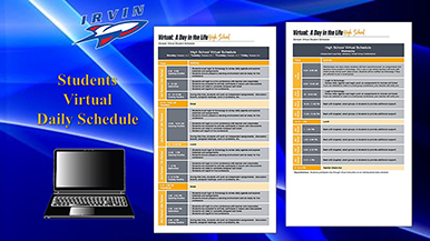Irvin H. S. Student Virtual  Daily Schedule