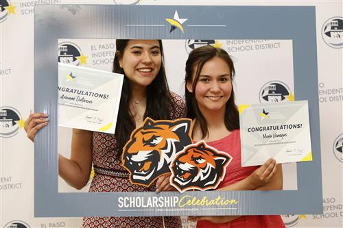 El Paso High students celebrate their scholarship.