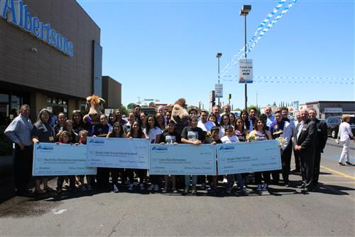 Cielo Vista Elementary, MacArthur Elementary/Intermediate and Burges High School received grants from Albertsons.