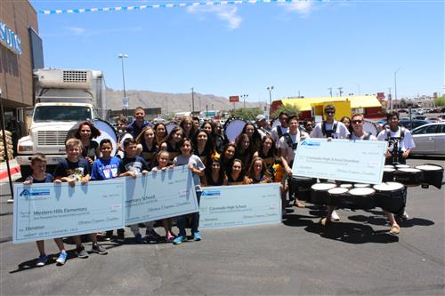 Green and Western Hills elementary schools and Coronado High School received grants from Albertsons.